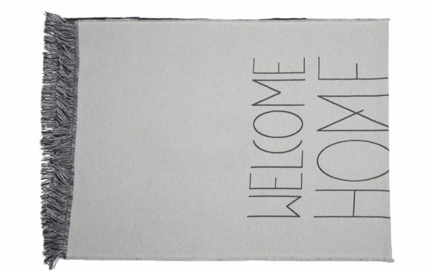 """GOLIATH rug """"welcome home"""", with fringe"""
