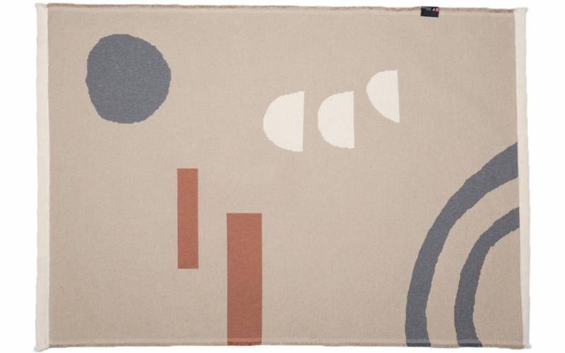"""GOLIATH Teppich """"abstrakt"""" klein mit Saum"""