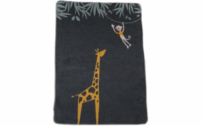 """MAJA 100% Baumwolldecke """"Giraffe"""" (GOTS)"""