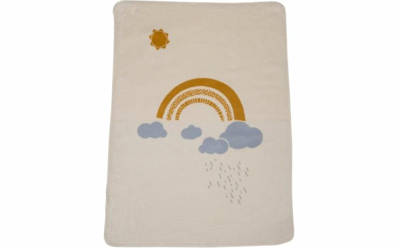 "MAJA baby blanket 100% org. cotton (GOTS) ""rainbow"""