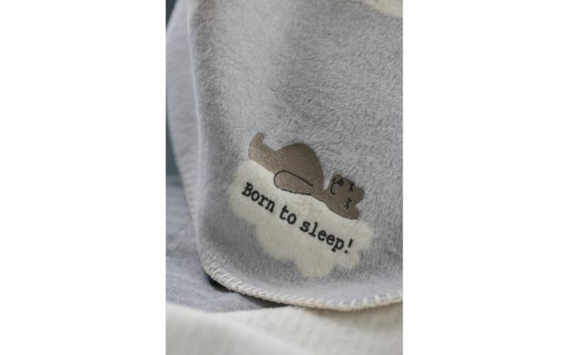 """PANDA Babydecke """"born to sleep"""" inkl. Stick"""