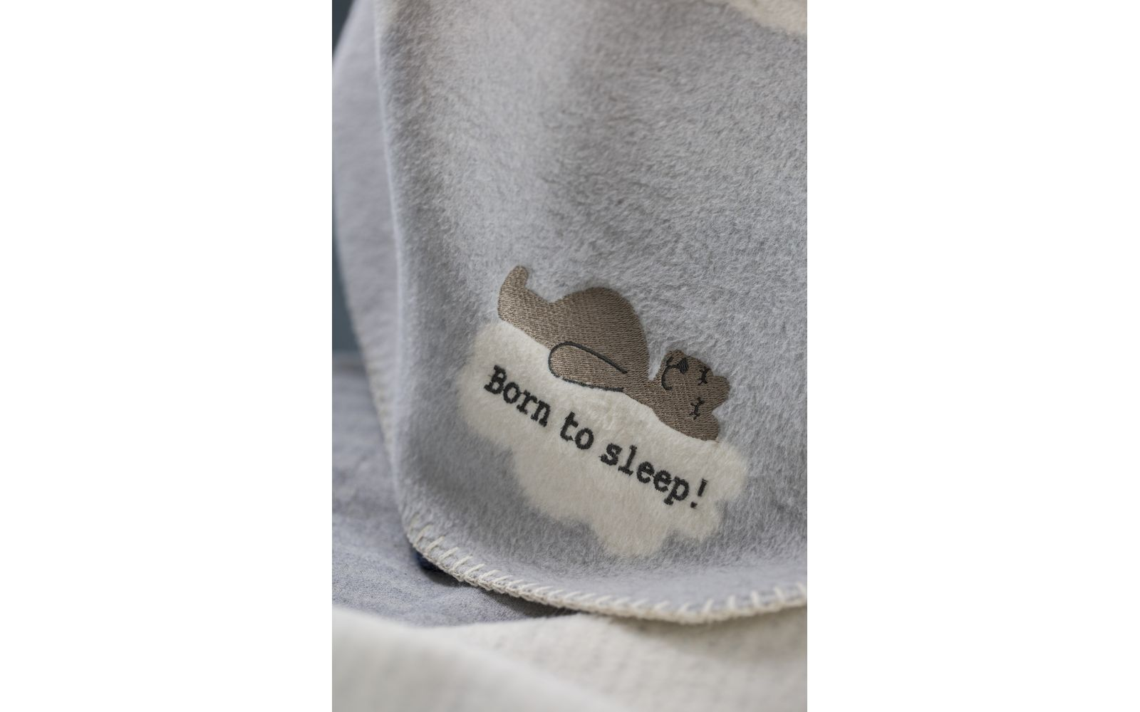 "PANDA baby blanket ""born to sleep"" with embroidery"