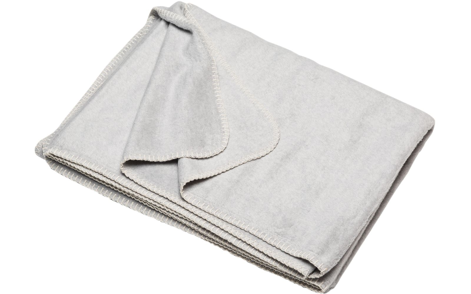 BAMBOO solid throw with embroidery