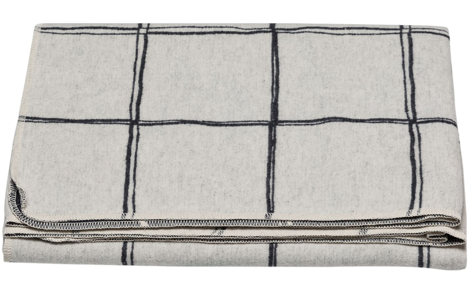 "SILVRETTA cotton throw ""checkered/lines"""