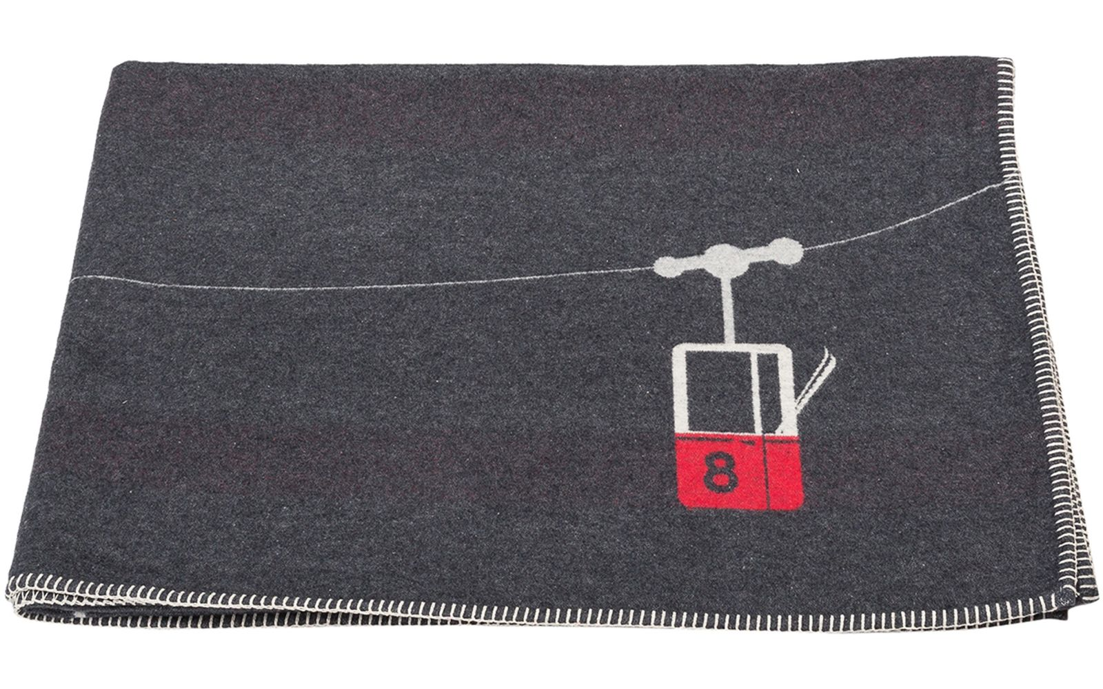"SYLT cotton throw ""cable cars"""