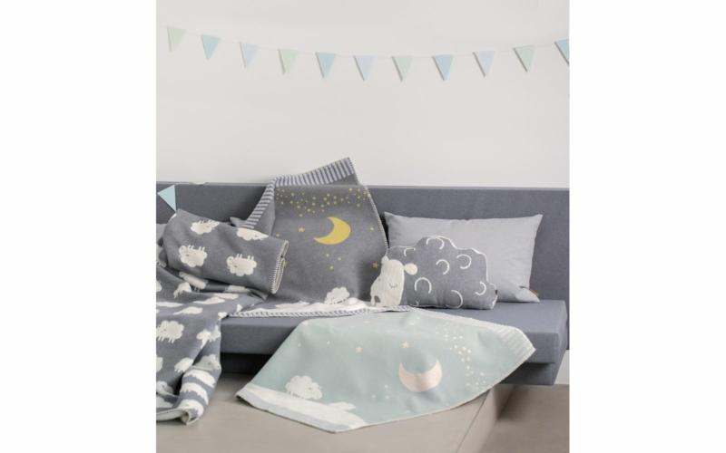 "FINN baby blanket ""moon over sheep"""