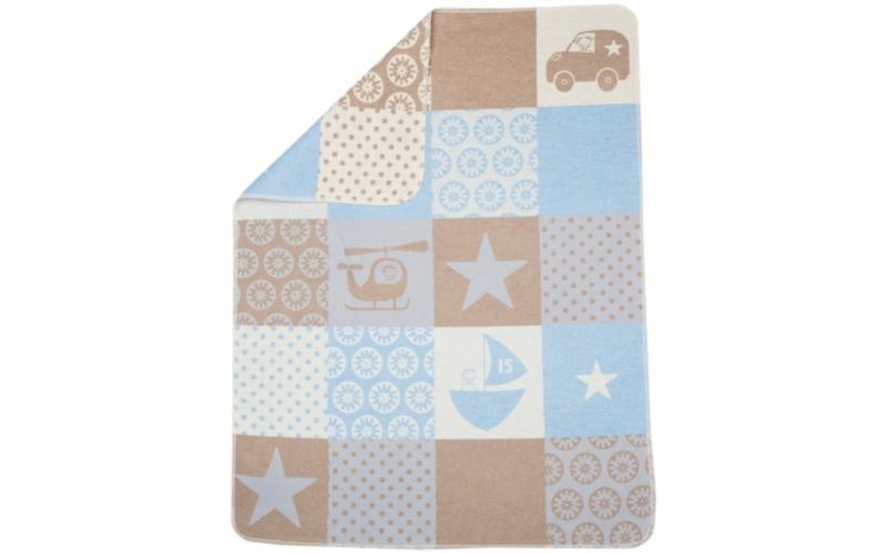 "JUWEL baby blanket ""patch boy"""
