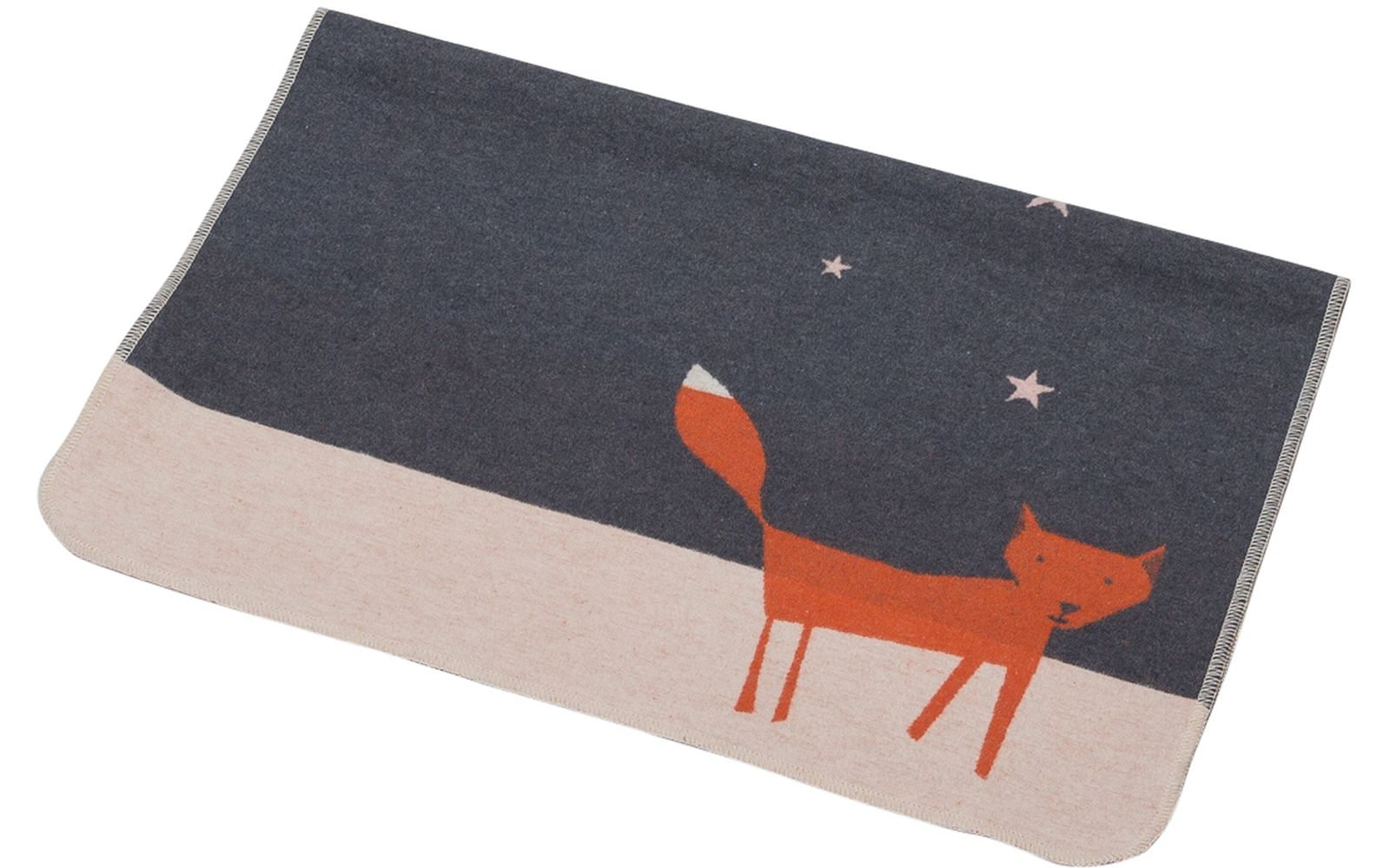"JUWEL baby blanket ""fox under starry skies"""