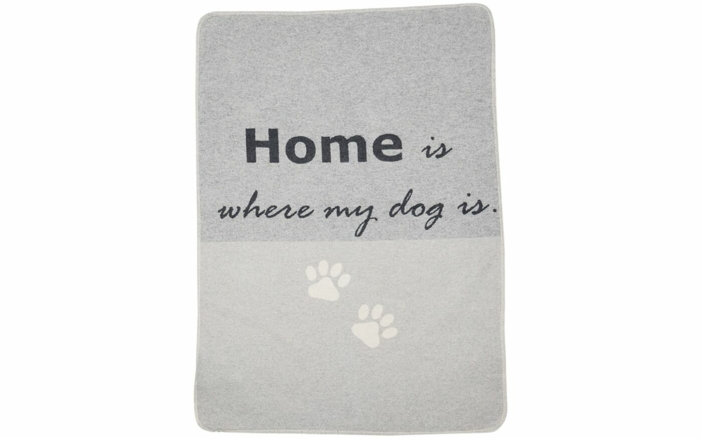 "Haustierdecke ""home is where my dog is"""