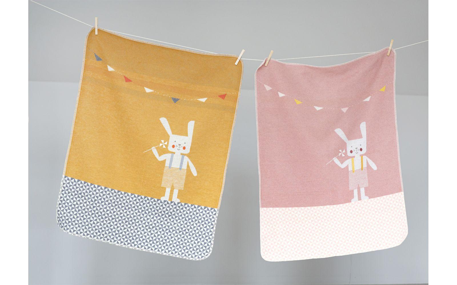 "JUWEL baby blanket ""bunnyrabbit"", embroidered"