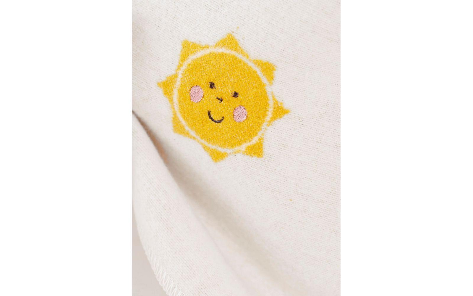 "JUWEL baby blanket ""suns allover"", embroidered"