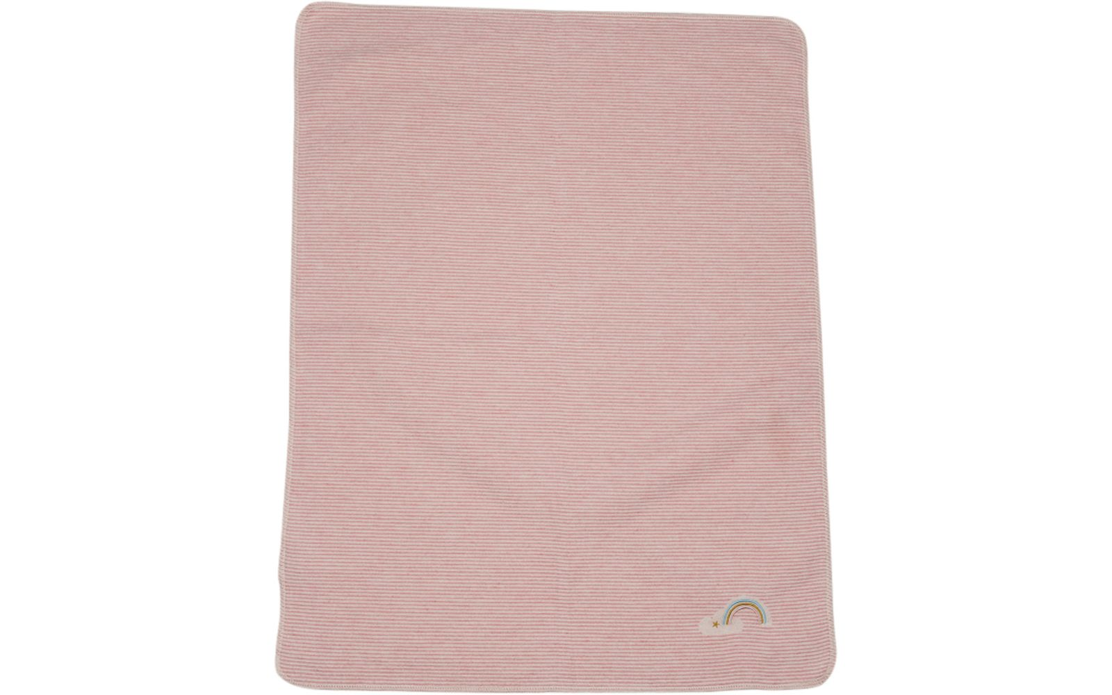 "JUWEL baby blanket ""stripes/rainbow"", embroidered"