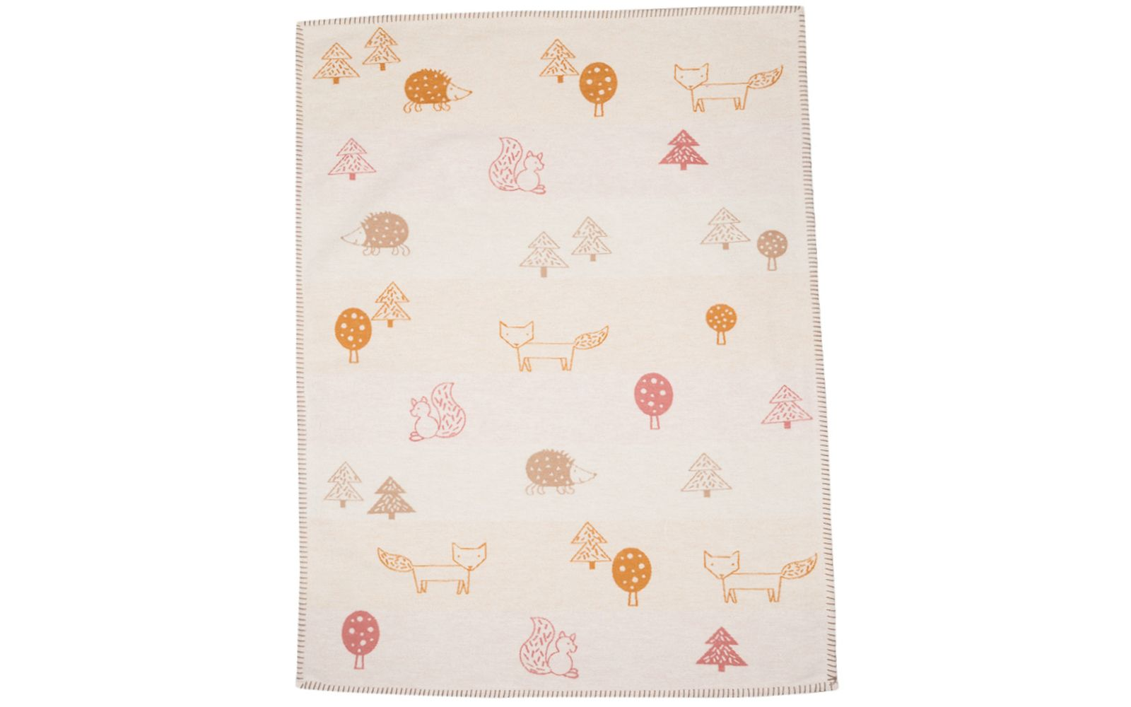 "LENA baby blanket 100% org. cotton ""forest animals"" (GOTS)"