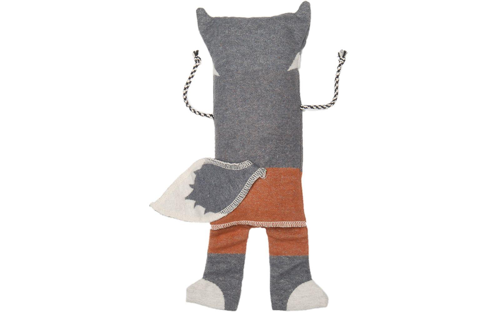 """JUWEL set, blanket in puppet """"wolf"""""""