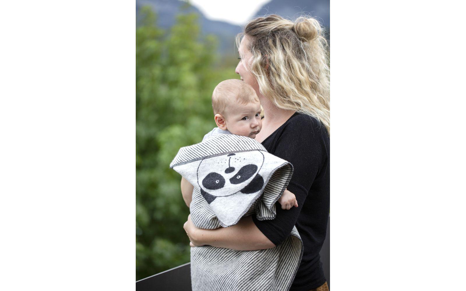 """JUWEL Babydecke mit Kapuze """"Pandabär"""""""