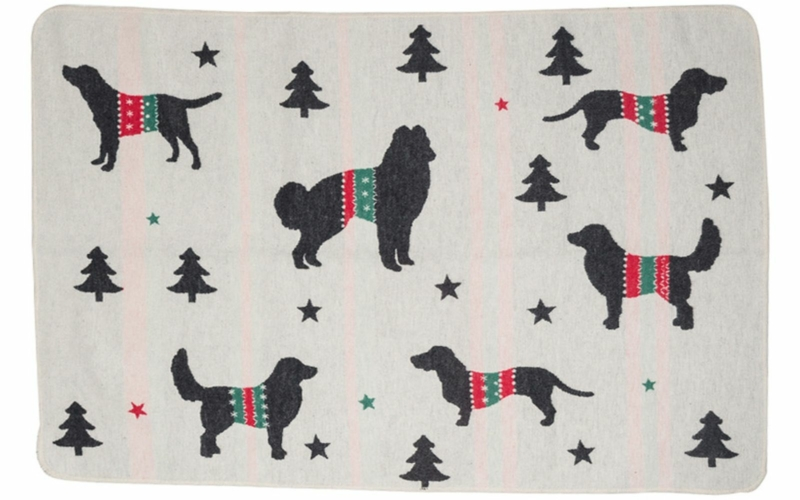 "pet blanket ""xmas dogs allover"""