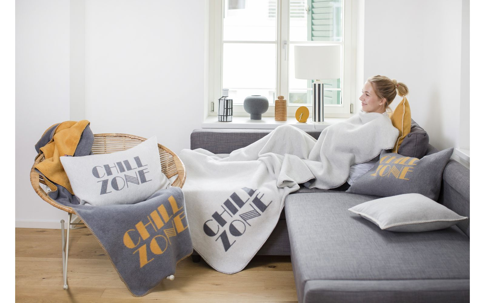 "SILVRETTA cushion cover ""chill zone"""