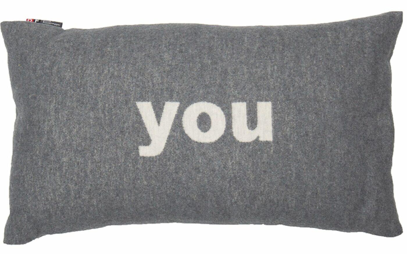 """cushion cover SILVRETTA """"you"""""""