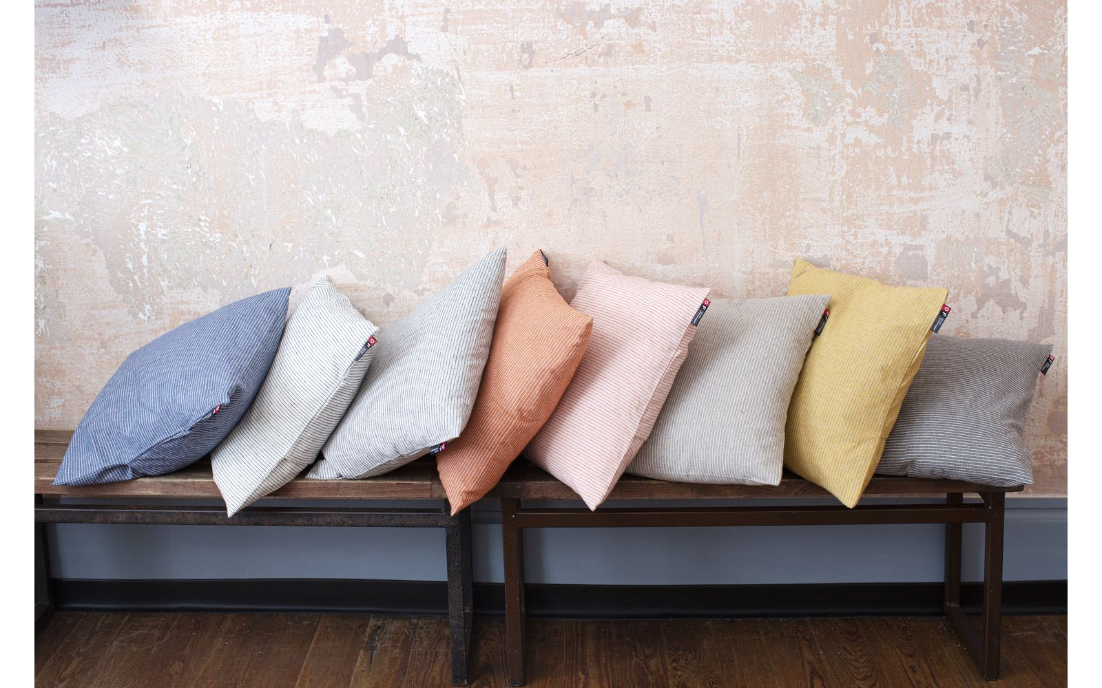 "NIZZA cushion cover ""pinstripe"" 2pc. set, recycling cotton"