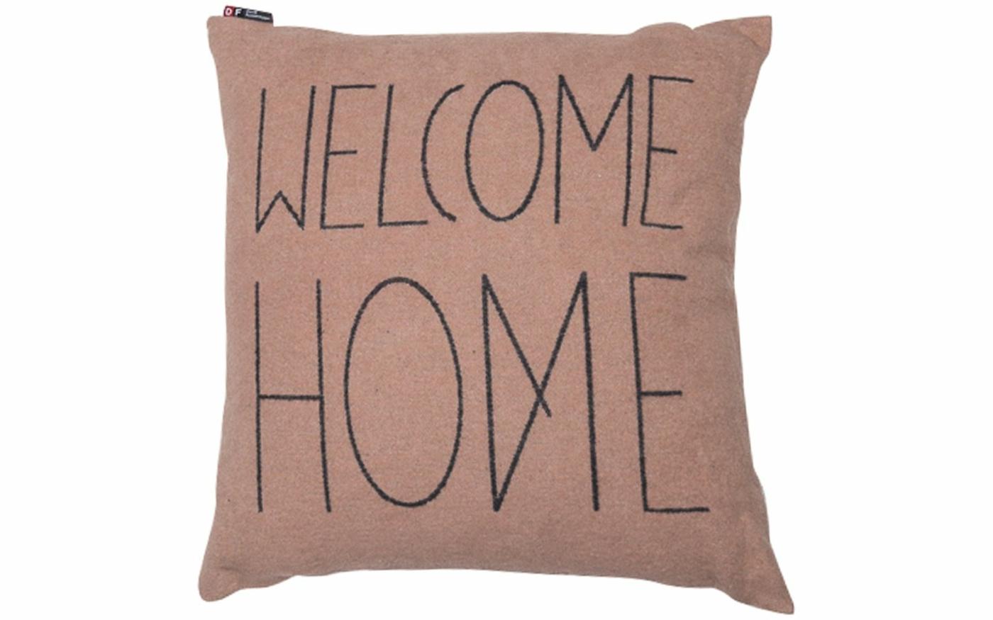 "SILVRETTA Kissenhülle ""welcome home"""