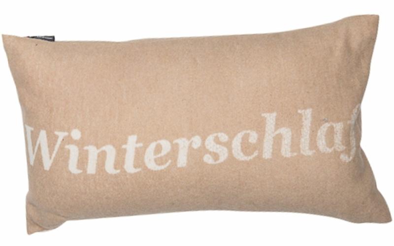 "SILVRETTA cushion cover ""Winterschlaf"" (= hibernation)"