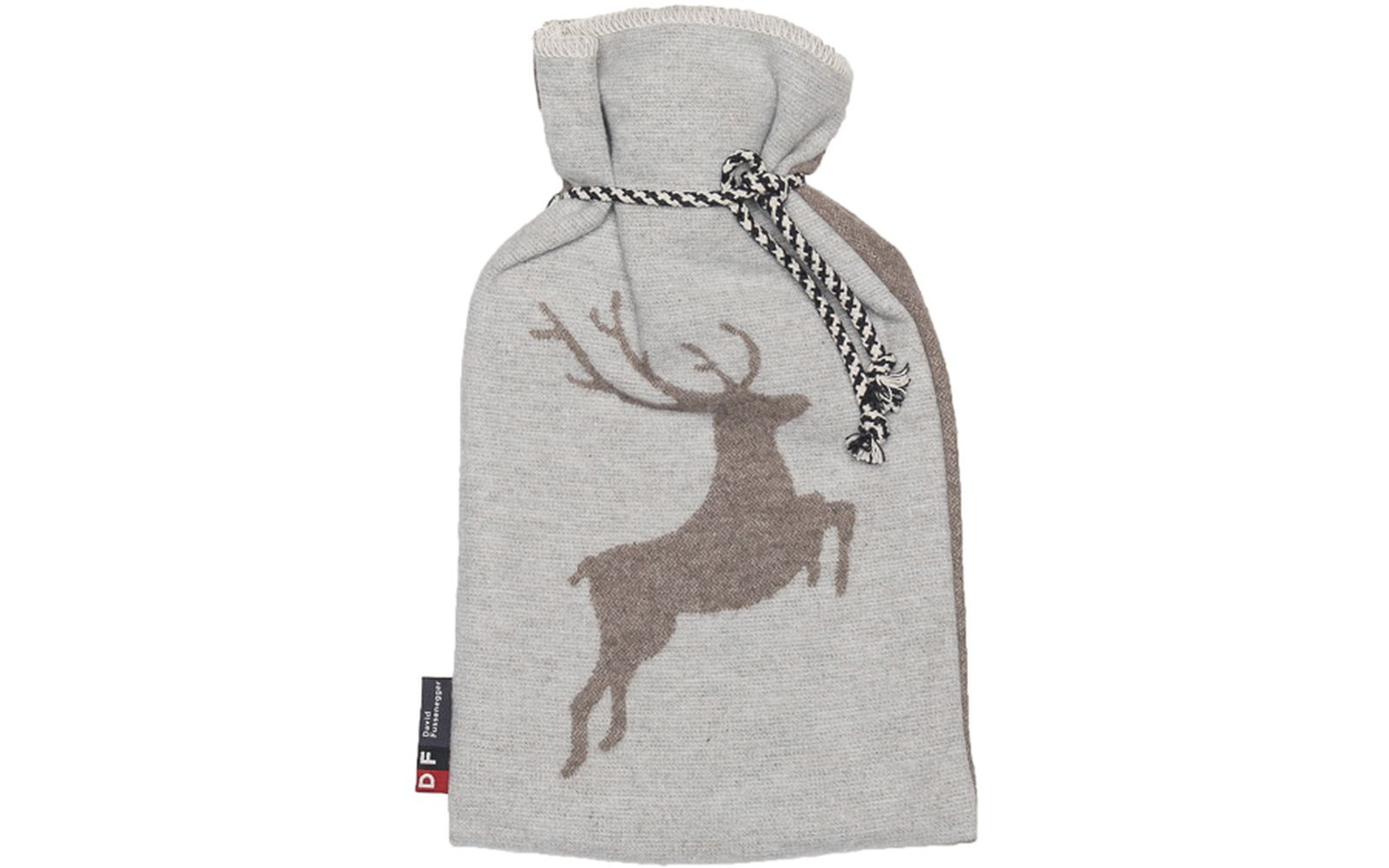 "SILVRETTA warming bottle ""stag"" 2 litres, with string"